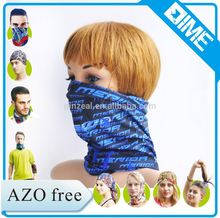 Stylish Letters Print Custom Logo Neck Warmer Knitted 100% Polyester Bandana