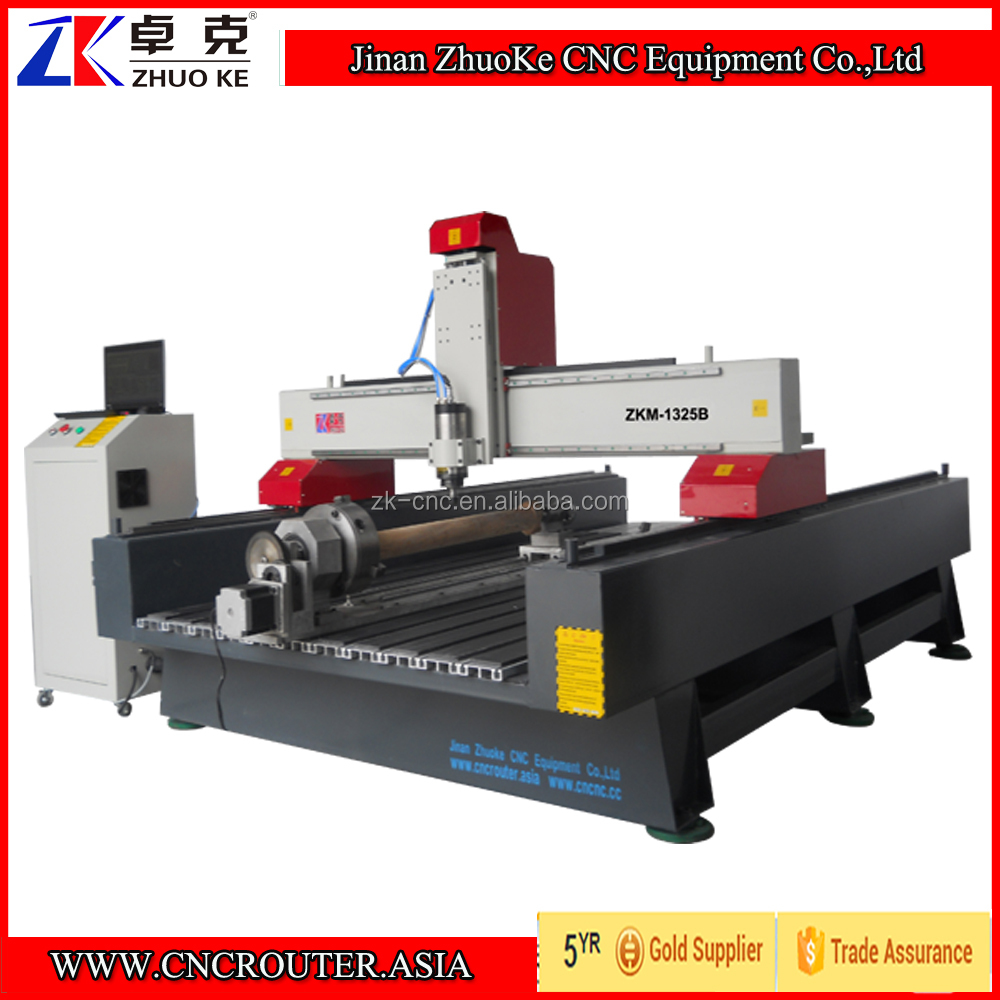 450mm Z Axis China CNC Wood Router 1325 With Mach3 Control Rotary Axis ZKM-1325B