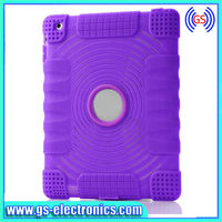 colorful eco-friendly silicone case for ipad 2 3 4