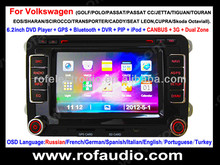 Auto dvd gps Multimedia System 2din player for passat cc