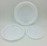 disposable plastic white plate, white party plate
