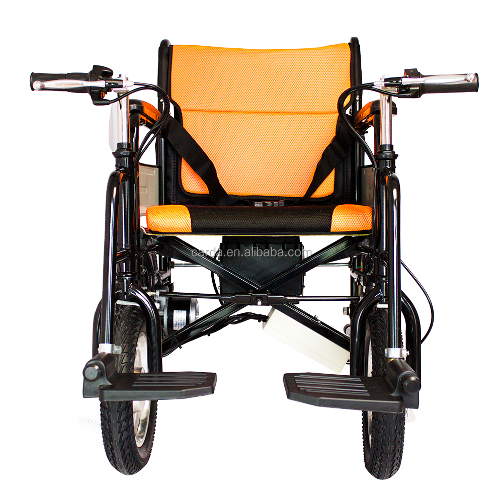Lightweight portable electric wheelchair for the elderly Portable motorized wheelchair