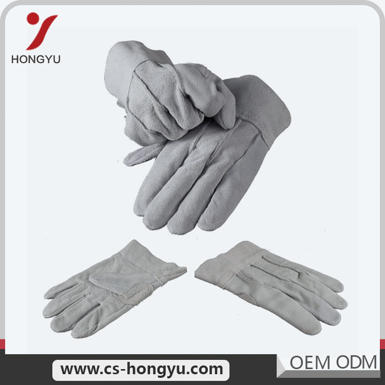 Same-day service polyester cow leather freezer work gloves