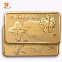 custom gold and silver plating metal bar