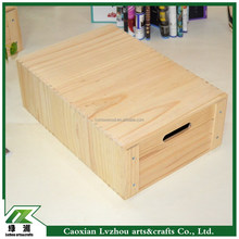 unfinished design wood storage boxes with drawer collect jewelry or make up things