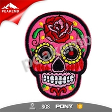 Wholesale Embroidery Badge/Custom Embroidery Patch/Embroidery Patch Skull Design for Clothing