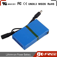 3000mAh DC 12V 12.6V Super Rechargeable Li-ion Battery Pack Portable for transmitter CCTV camera free shipping