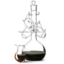 1L Wine Glass decanter Port Sipper Set With 4 Sippers