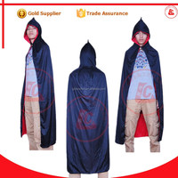 New design halloween party sexy hooded cape long black vampire cloak for men