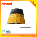 Yellow & Black high quality 500*350*50 road speed bump