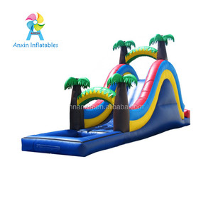 Commercial Giant 24'H Triple Lane Tropical PVC Inflatable Water Pool Slide For Adult And Kids