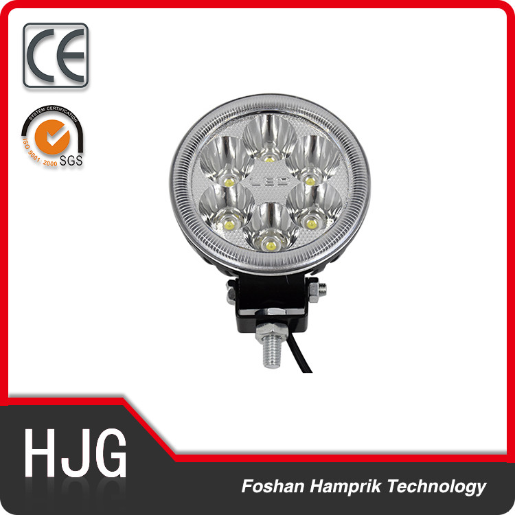 18W led work light for truck, ATV 12v led motorcycle headlight assembly