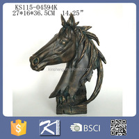 resin wild horse head for home wall decoration