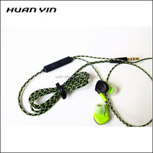 Braided cable mobile earphone headset with online microphone for xiaomi mobile