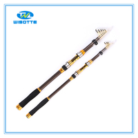 Fishing Tackle 100% Carbon Casting 2.1M-3.6MTelescopic Fishing Rod