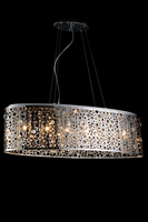 Steel wire hanging pendant light crystal drop decoration SS shade