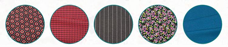 China fábrica fornece vestuário mulheres red striped impresso tecido de algodão
