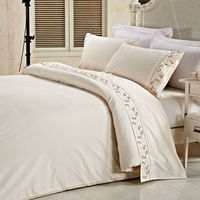 Polycotton modern design lace design your own bed sheets