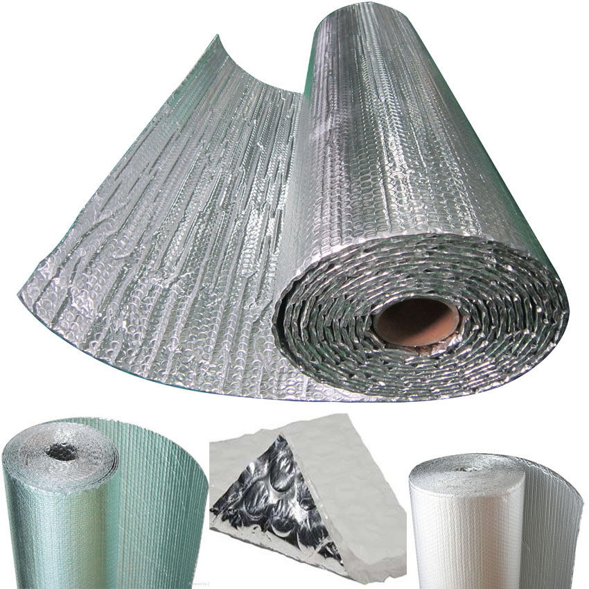 ceiling aluminium air bubble foil wrap roll prefab chicken farm reflective heat thermal roof insulation material