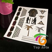 New Design Metallic Gold Temporary Tattoo Flash & Body Art Tattoo Jewelry