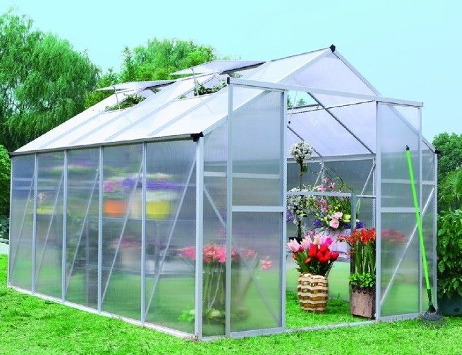 Aluminium Frame Polycarbonate Sheet Flower House Plasctic Green House