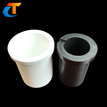 3KGA Customized Graphite crucible with lid ceramic sleeve price