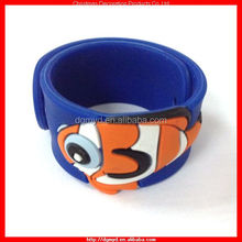 Cute animal 3D silicone slap bracelet for promotion (KMS-1112)