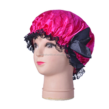 Bouffant children bath hat keep water off face shower cap