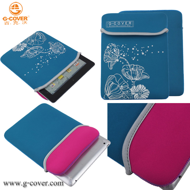 High quality good price shockproof neoprene pouch case for tablet