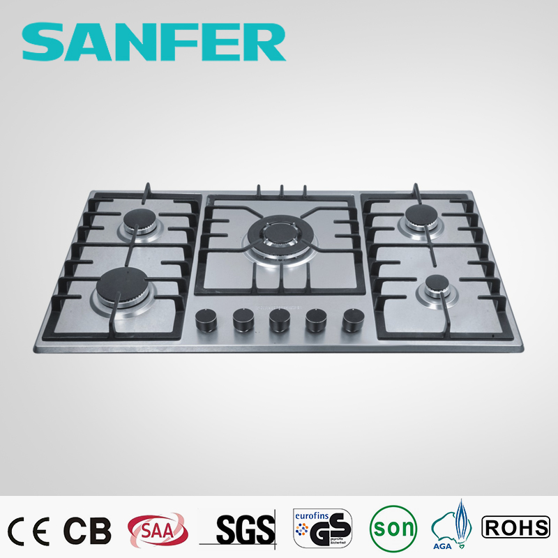 Sanfer selling hot portable gas 5 burner/gas hob covers