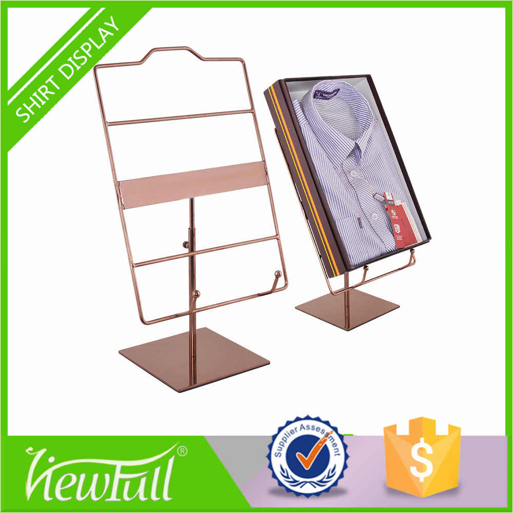 Inexpensive iron and polish t-shirt cardboard display