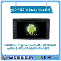 2016 factory oem price car dvd gps radio player for toyota hilux 2016 accessories gps built-in maps & two usb ports navigation