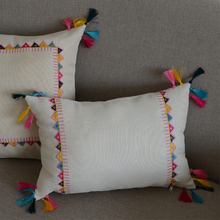 "New Design Decorative Pillows 12*16"" ethnic style with Tassel Cushions Decorative embroidery Pillows"
