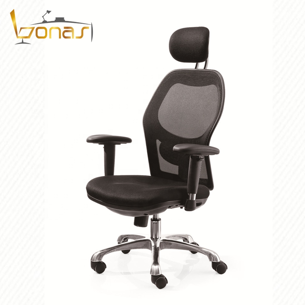 hot selling black swivel reception seat big size height adjust armrest office staff mesh chair