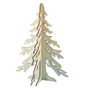 New cheap laser engraving artificial wooden Christmas tree, decorative wood tree
