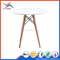 Furniture Modern White Wooden Dining Table