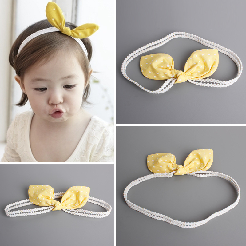 S31777W Baby Bowknot Headband Newborn Baby Bows For Christmas gift Hand Knitted Hair Acessorios