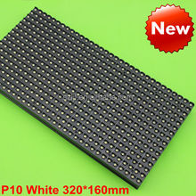 32x16 pixels Single white smd outdoor p10 led display P10 led module P10 led panel CE&ROHS