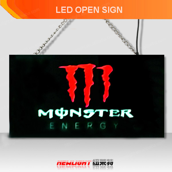 Alibaba china high tech product 3D led open sign/custom sign Shenzhen factory