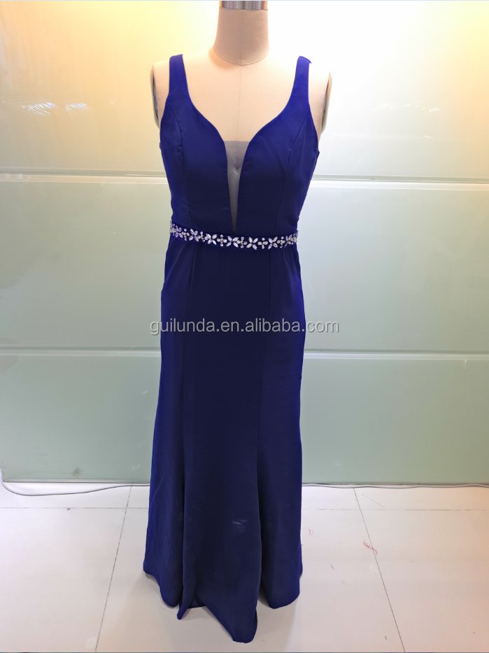 2017 Classic Western style Royal Blue V-neck Long Sexy Prom Dress