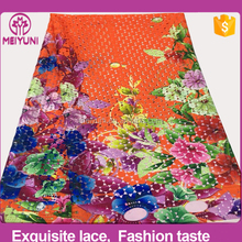 china fabric market wholesale lace , guipure lace fabric