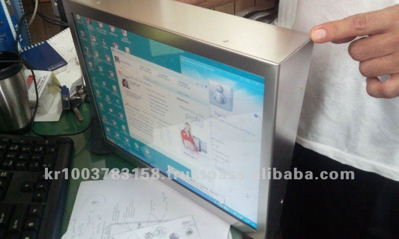 15 Inch LCD Monitor for Elevator with Super Mirror front
