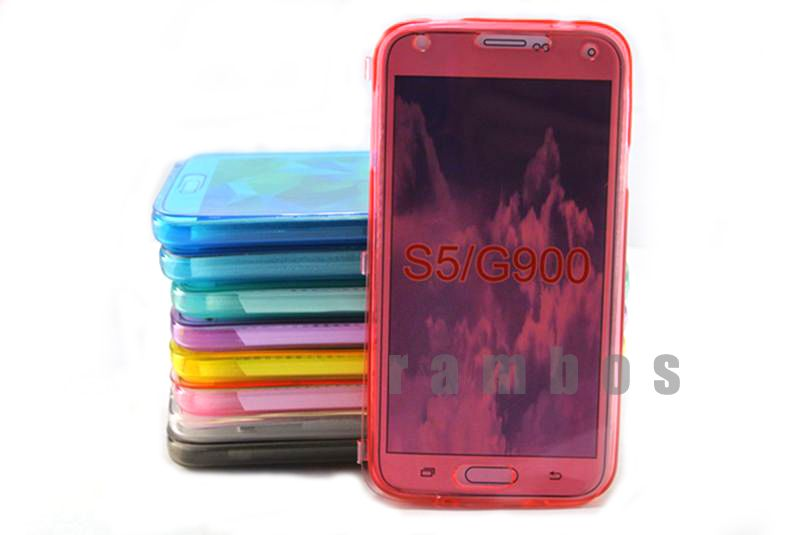 Transparent TPU Silicon Clear Flip Case Cover for Samsung Galaxy S5 i9600