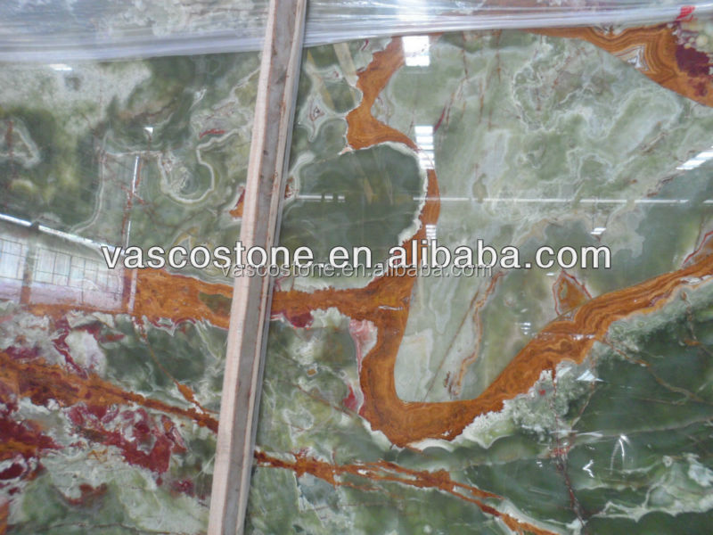 Wholesale good slab green onyx price