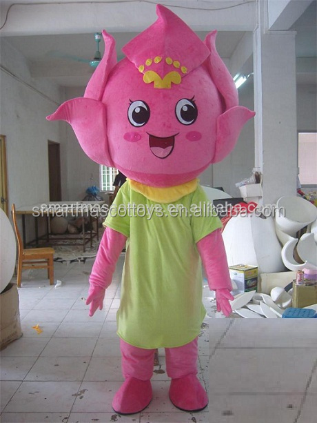 Fancy dress lotus flower mascot costume for adult