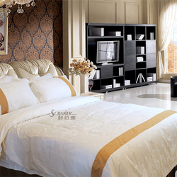 hot luxury bedding set for hotel and home beautiful color 100% polyester satin