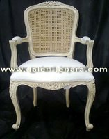 Cane Furniture with Upholstery - Single Chair with Arm - Indoor Furniture