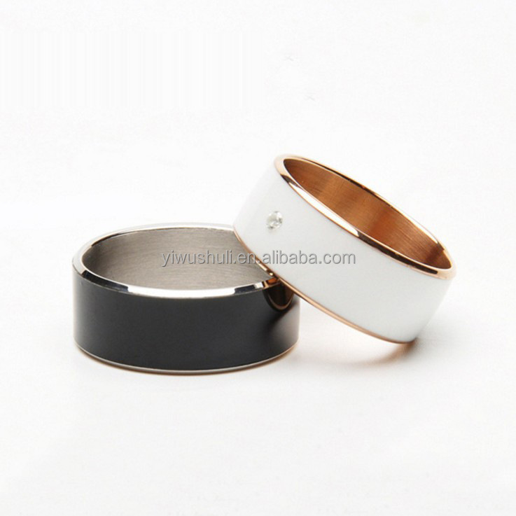 Mobile new accessories technology NFC smart stainess steel ring