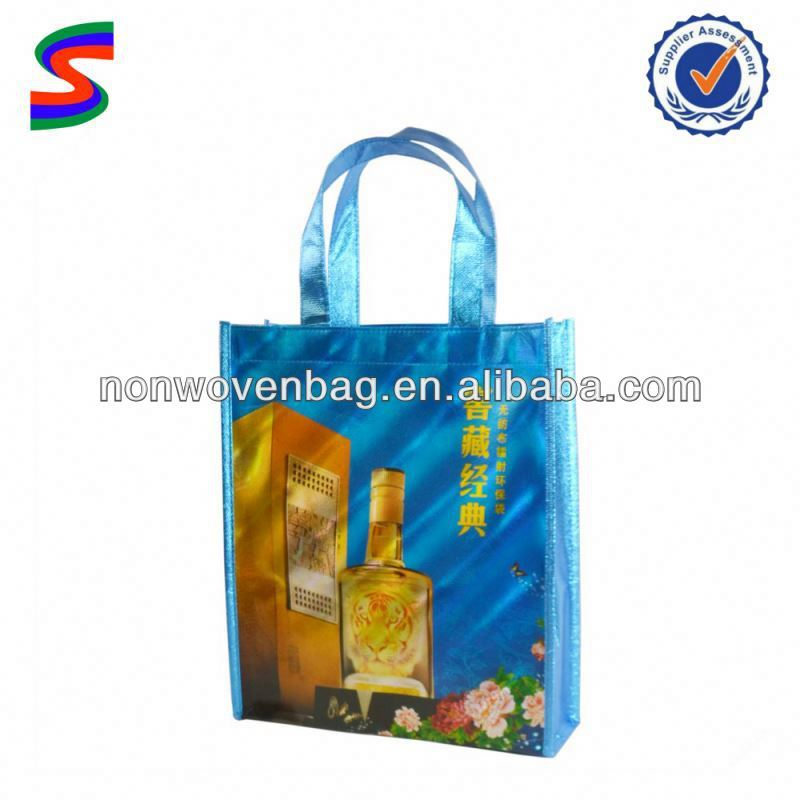 Metallic Non Woven Shopping Bags Colorful Promotional Non Woven Bags