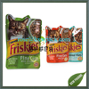 Custom flat special shape aluminum foil food grade cat food plastic bag with heat sealing
